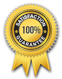 seal of 100% satisfaction